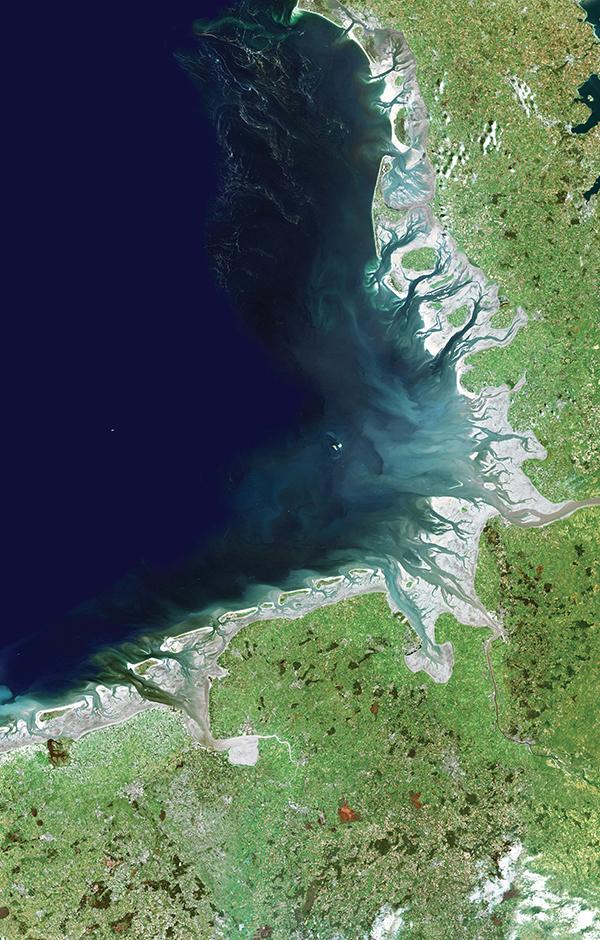 Satellitenaufnahme Wattenmeer